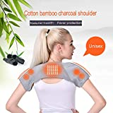 Double Shoulder Support Magnetic Therapy Shoulder Strap Bamboo Charcoal Fiber Light and Breathable, Dislocated Ac Joint, Shoulder Pain, Shoulder Compression Sleeve,M
