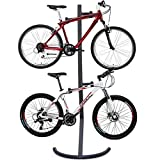 tinkertonk Adjustable Two Bicycle Gravity Work Stand 2 Bike Rack Stand, Heavy duty