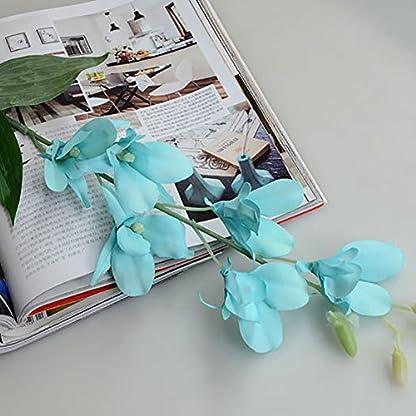 gzzebo Flores Artificiales, Planta de Flor de orquídea Falsa para la decoración del Partido de la Fiesta de Bienvenida al bebé de la Oficina del jardín en casa