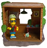 The Simpsons Series 12 Playset Barts Treehouse with Military Bart