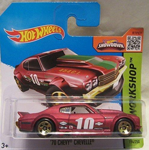 Chevelle Chevy Hotwheels 70 (Hot Wheels HW Workshop 70 Chevy Chevelle 194/250 Short Card by Hot Wheels)
