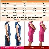 AMAGGIGO Femme culotte gainante taille haute Panty Minceur Avec Armature Body Gaine Amincissante Ventre Plat (XL/XXL 1=L ( Fits Waist 29-34 inch ), Noir-B) - 7