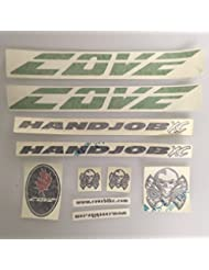 Cove Handjob XC Replacement Frame Decal Kit Sticker Green Pre 2010