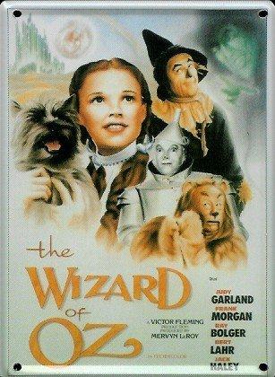 Von Zauberer Der Dekorationen Oz (Der Zauberer von Oz Mini-Blechschild Blechpostkarte - 8x11cm Nostalgieschild Retro Schild Metal tin)