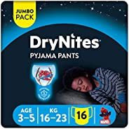 Huggies DryNites, 3-5 years, Boy, 16-23 kg, Jumbo Pack, 16 Bed Wetting Diaper Pants