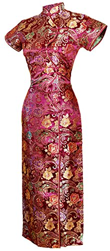 Jahrgang Chinesisch Kleid Cheongsam Lang Zehn Tasten Größe De 36 (Roter-teppich-themen-abschlussball)