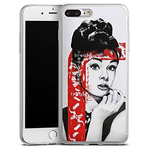 Apple iPhone 8 Slim Case Silikon Hülle Schutzhülle Audrey Hepburn Zeichnung Frau Silikon Slim Case transparent