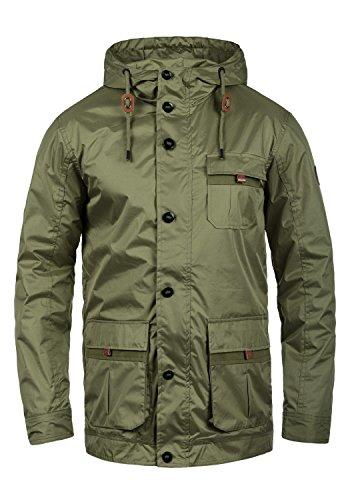 bergangsjacke Kapuzenjacke aus hochwertiger Baumwoll-Mischung, Größe:XL, Farbe:Dusty Green (70595) (Finn-jacke)