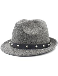tanxinxing Sombrero elegante del sombrero de la señora de la señora  Cashmere Trilby Homburg Jazz con e06bcd88c00