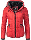 Navahoo Damen Winter Jacke Steppjacke Nimmersatt Rot Gr. XL