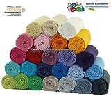 Hochwertige Baby Mullwindeln Spucktücher 70 x 70cm mit verstärktem Rand von Family-Kollektion I 5 x Baumwolle Mulltücher Ökotex Standard I Baumwollwindeln Stoffwindeln Set Farben frei wählbar