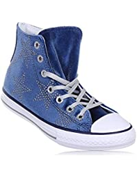 chaussures CONVERSE fille bleu marine gray gray 658882C all star lacets mi