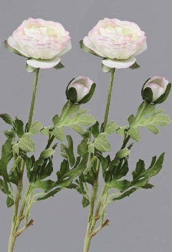 Set Kunstblume 'Ranunkel' aus Kunststoff L40cm, 2er Set Farbe: weiss