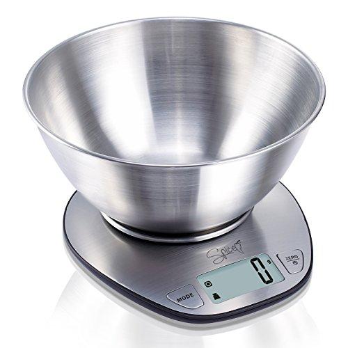SPICE DoppioZero bilancia elettronica digitale da cucina acciaio inossidadbile