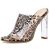 a3a7d065a1 Aplicaciones: fiesta, casual From HandMade Moda Sandalias de tacón for  Mujer Transparente 11 cm