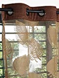 Story@Home Sheer Door Curtains Linen Look Semi Transparent Voile Grommet Elegance Curtains