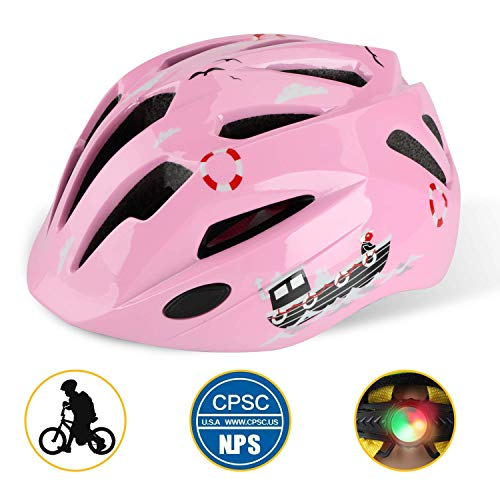 Shinmax Kids Cycle/Bike Helmet, Certificado por CE para Niños Ligeros Multi-Sport Cycling/Skateboarding/Skating/Scooting Casco con Correas Ajustables para Niños y Niñas Protección de Seguridad