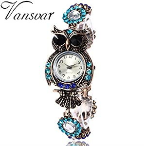 Wrist Watch ,U.Expectating 2017 Vintage Owl Fashion Womens Quartz Bracelet  Brand Watches Gift Wrist Watch