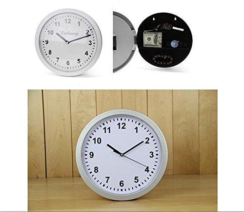 TUNBG Wanduhr Sicherheitskasten Moderne ruhige Uhr mechanische Bewegung Mode High-End-Wohnzimmer Esszimmer Schlafzimmer Uhr (12 Zoll Regale Metall)