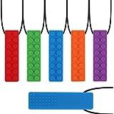 Collar de masticación sensorial yidenguk, juguete de dentición colorido de 5 piezas para dentición y perfecto para niños dent
