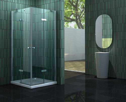 duschtrennwand eckeinstieg Duschkabine NEOTEC 90 x 75 x 180 cm ohne Duschtasse