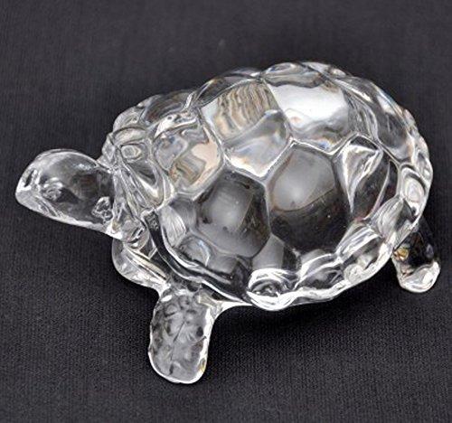 Shanti Enterprises Fengshui Crystal Tortoise Turtle For Shining Your Luck (10 CM X 5 CM X 4 CM , Clear)