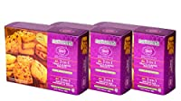 Karachi Bakery Double Delight, 2 in 1, Fruit and Almond Biscuits, 400g (Pack of 3)