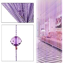 Cortina de hilos con cuentas decorativas de BCMRUN, para puertas, pared, ventanas, divisor de habitaciones, cafeterías, etc