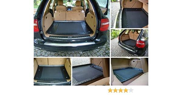 ZentimeX Z3329887 Geriffelte Kofferraumwanne fahrzeugspezifisch Laderaumwanne, Kofferraummatte Klett-Organizer
