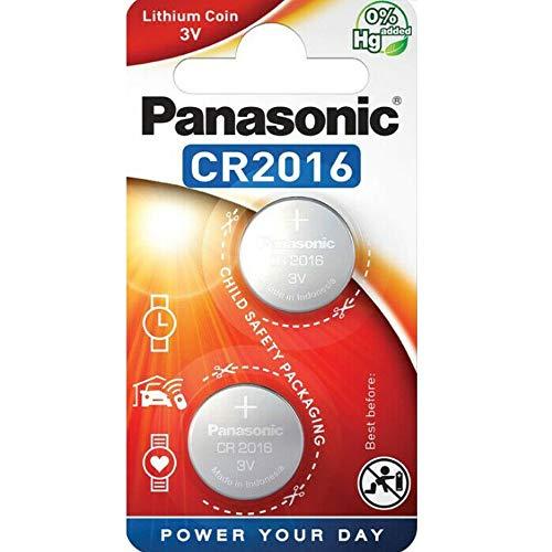 Panasonic, 2er Pack (2 X CR2016 3V Lithium Batterie Knopfzelle Allzweckthermometer NEU