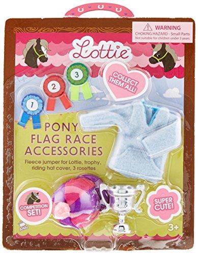 Zubehör für Puppe Lottie LT024 Pony Flag Race Zubehörset - Puppen Zubehör Kleidung Puppenhaus Spieleset - Zubehör Kleidung Puppenhaus Spieleset - ab 3 Jahren (Flag Pony)