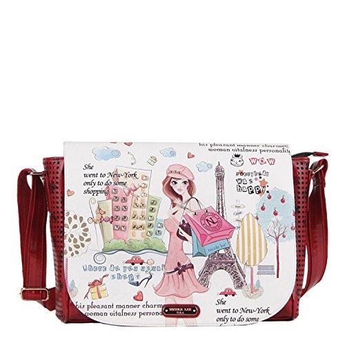 nicole-lee-messenger-bag-shopping-girl-one-size