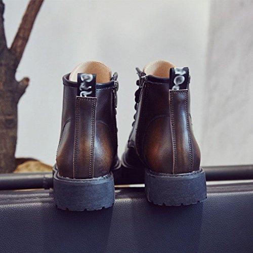 XAI Martin Stivali Donna Stivali Autunno e Inverno Scarpe Stivali Bici Piatta Cerniera UN
