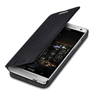 kwmobile Flip Case Hülle für HTC One Mini M4 - Aufklappbare Schutzhülle Tasche im Flip Cover Style in Schwarz