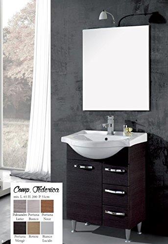 mobile da bagno moderno con lavabo composizione con specchio ...