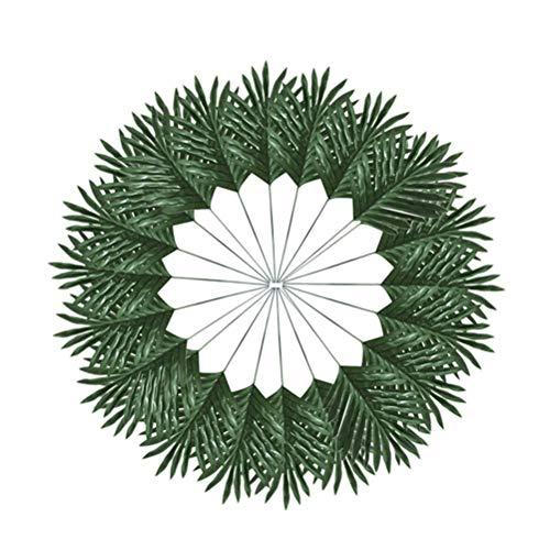STOBOK Künstliche Blätter Tropical Gefälschte Palm Blätter Pflanzenblätter Hawaiian Geburtstag Hochzeit Party Deko 30 Stück (Grün)