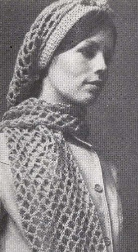 Crocheted Mesh Snood Hair Net Hairnet Hat & Scarf Crochet Pattern (English Edition) Crocheted Hair Net