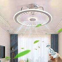 Plafondventilatoren met verlichting en afstandsbediening 56W LED Light Verstelbare de windsnelheid en 3 Lichte Kleuren verduisteren for Slaapkamer Woonkamer Plafondventilator plafond verlichting, roze