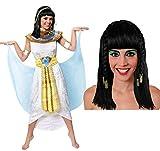 KLEOPATRA/Cleopatra KÖNIGIN des Nil ÄGYPTEN PHARAONIN KOSTÜM VERKLEIDUNG =MIT PERÜCKE +OHNE PERÜCKE =IN 5 GRÖßEN=TOLLE CÄSAR ODER GÖTTIN des NILS AN Fasching UND Karneval=KOSTÜM-XLarge+PERRÜCKE