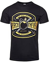 Unisex-adults Official Pierce The Veil Bomb T Shirt (Black)