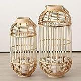 Home Collection - Lanterna in bambù, Misura XXL, Set da 2 Pezzi, Altezza 66-80 cm