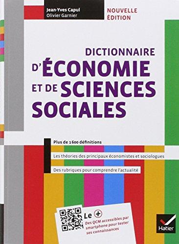 Dictionnaire d'conomie et de sciences sociales d. 2013