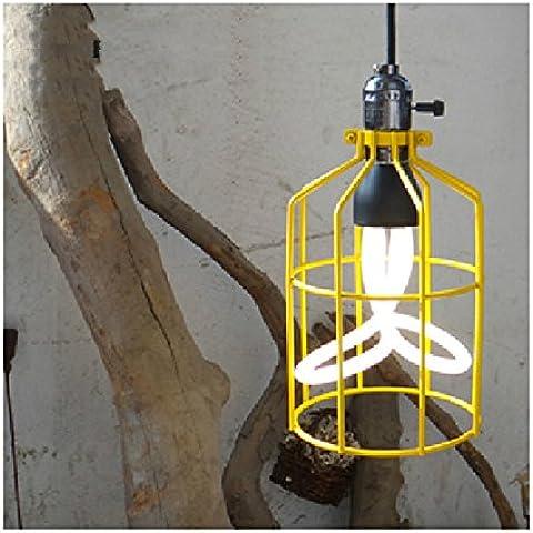 BBSLT Loft American Country lámpara de mesa vintage industrial hierro tienda de ropa tienda de té y café arañas de luces engineering 160*270mm , amarillo