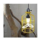 MSAJ- -amerikanischen Land Tisch Lampe Vintage Eisen Arbeitskleidung Shop Tee-Shop und Cafe Lampen Kronleuchter engineering 160 * 270mm , Yellow