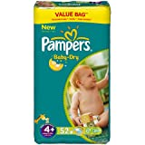 Pampers Baby Dry Couches Maxi + 9-20 kg Taille 4 Format Economique x 52