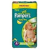 Pampers Baby Dry Pañales Maxi + 9–20kg Tamaño 4formato económico x 52