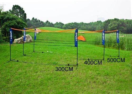 SoBuy® ajustable en altura, Red de bádminton, red de tenis (con armazón/ varillaje), SFN03(5m)