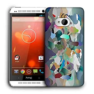 Snoogg Paper Ring Of Fire Printed Protective Phone Back Case Cover For HTC One M7
