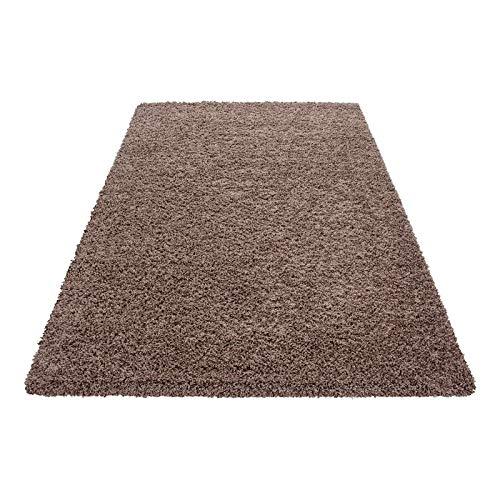 Carpetsale24 Hochflor Shaggy Teppich, Polypropylen, Mocca, 200 x 290 cm