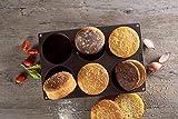 Lurch FlexiForm Burger Buns Silikonbackform für 10 cm Pattys, 6-Fach, Silikon, Braun, Ø